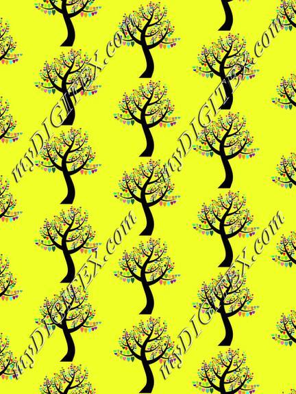 Love tree pattern