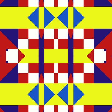 Triangles and stripes pattern