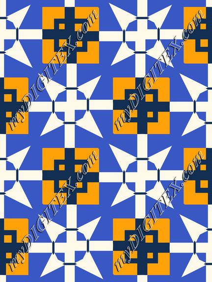Shapes on a blue background