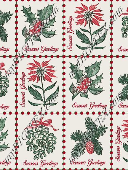 Vintage 1964 Christmas Postage