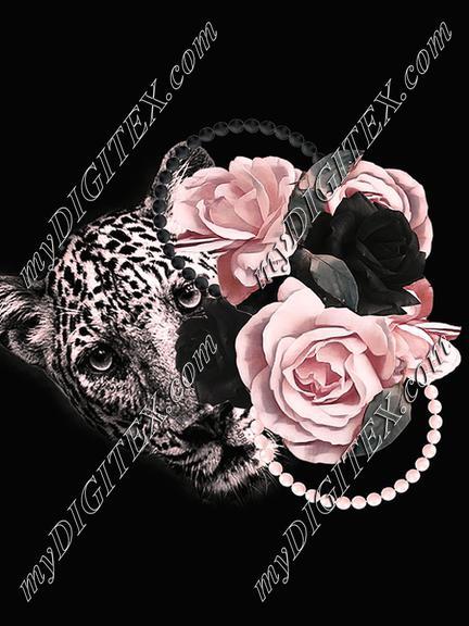 Gabriela  &  Rosa black LEO pink