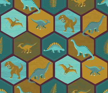 Dinosaur Hex - Mulberry