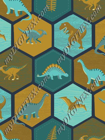 Dinosaur Hex - Navy