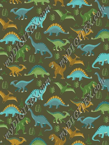 Dinosaur Vegetation Scatter - Brown