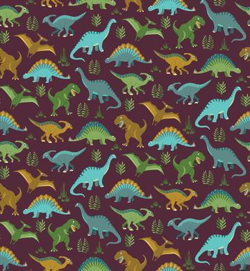 Dinosaur Vegetation Scatter - Mulberry