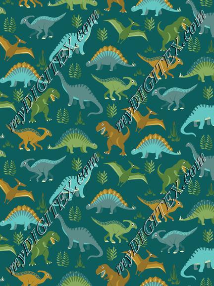 Dinosaur Vegetation Scatter - Teal