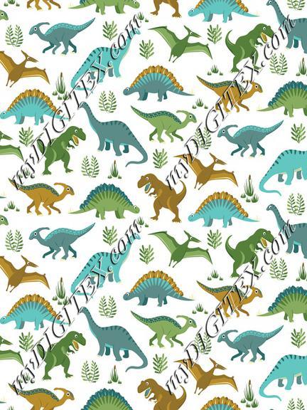Dinosaur Vegetation Scatter - White