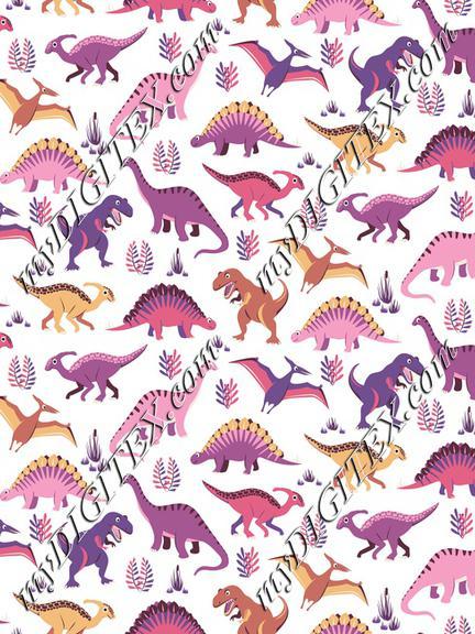 Dinosaur Vegetation Scatter - Pink Version