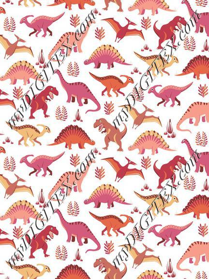 Dinosaur Vegetation Scatter - Salmon Version
