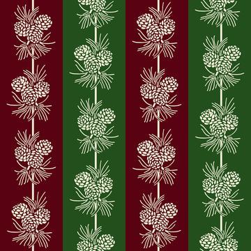 Country Christmas Pine Stripe