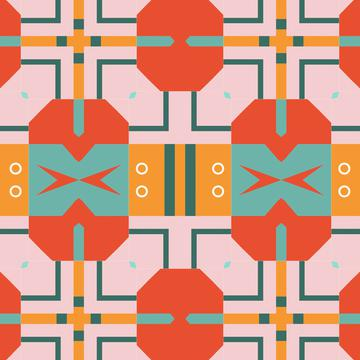Shapes in retro colors
