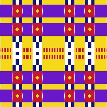 Rhombus and stripes pattern