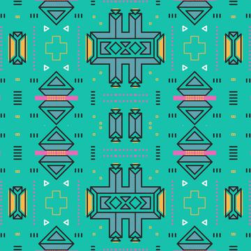 Shapes on a turquoise background