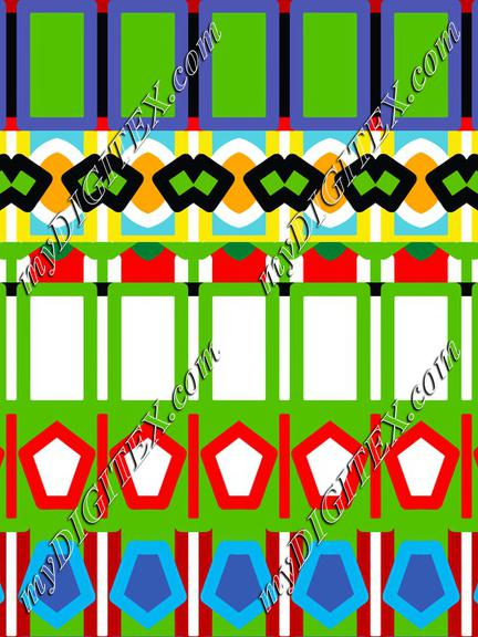 Colorful shapes rows
