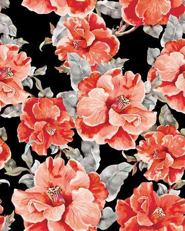 Vintage Floral Print Design