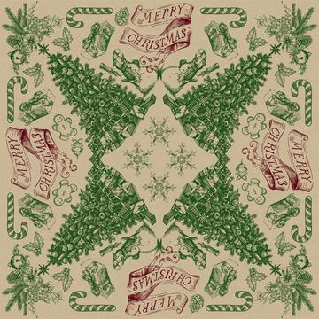 Country Christmas Bandana Toile 1