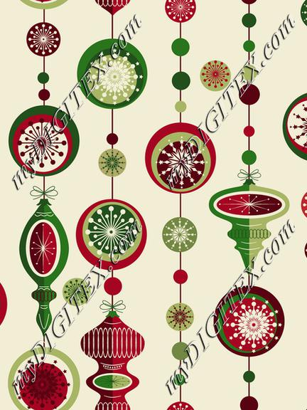 Country Christmas Midcentury Baubles