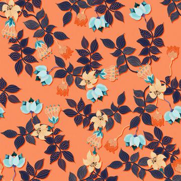 ROS060321EmbroideredFloralCoral100%