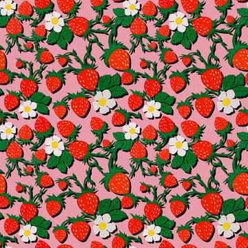 ROS032721EmbroideredStrawberriesCompositionPink100%