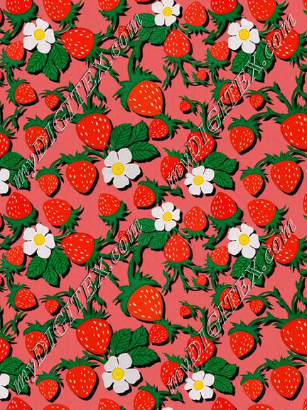 ROS032721EmbroideredStrawberriesCompositionRed100%