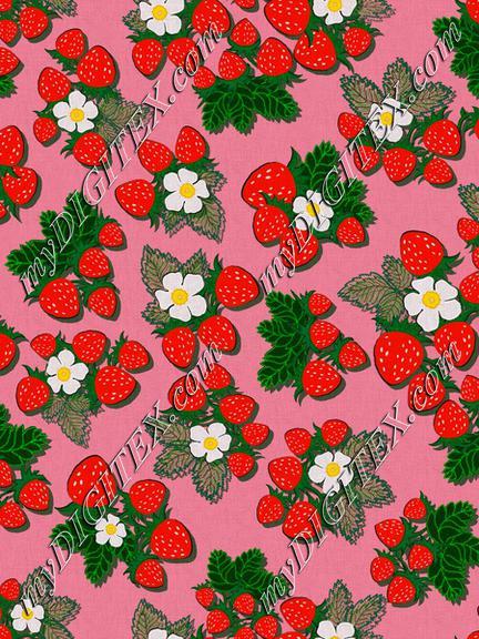 ROS033121EmbroideredStrawberriesPink100%