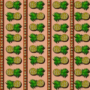 ROS072821BraziliannStripeTerracottaCaramell100%