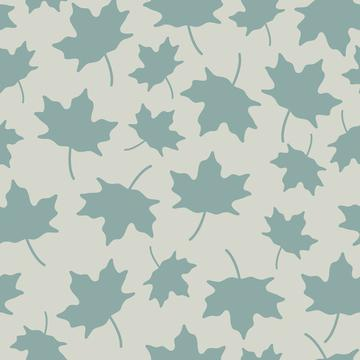 Maple leaves light blue silhouette