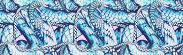 snake pattern - blue
