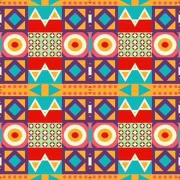 Retro colors shapes rows