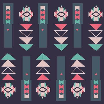 Tribal shapes in pastel colors