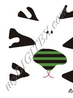 plantilla cojin zebrabl