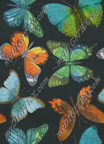 Rustic Butterflies - Charcoal