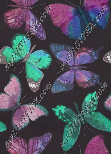 Rustic Butterflies - Jade and Purple