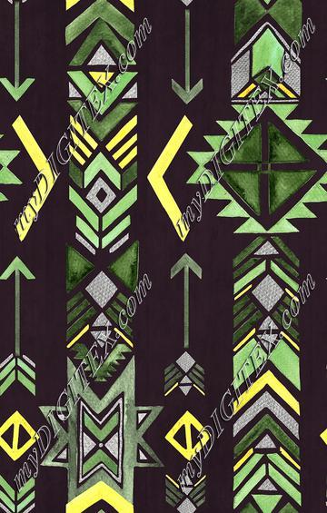 Ethnic Arrow - Moss