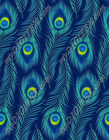 Peacock Feather Lattice - Tropical Blue