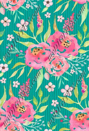 Fresh Summer - Rose & Mint Floral