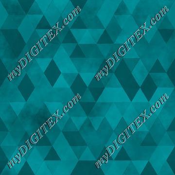 Watercolour Polygonal Triangles - Blue