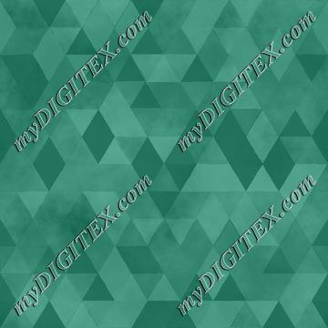 Watercolour Polygonal Triangles - Jade