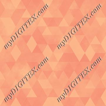 Watercolour Polygonal Triangles - Peach