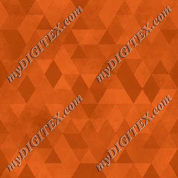 Watercolour Polygonal Triangles - Orange