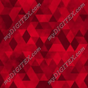 Watercolour Polygonal Triangles - Red