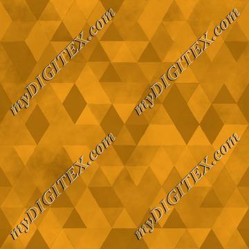 Watercolour Polygonal Triangles - Yellow