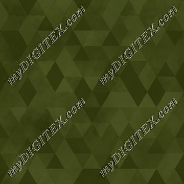 Watercolour Polygonal Triangles - Khaki