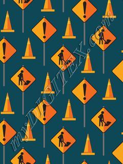 Construction Signs & Cones - Navy
