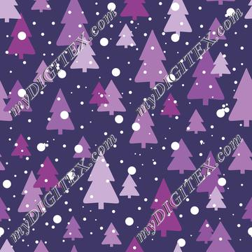 Trees in Snow (purples)