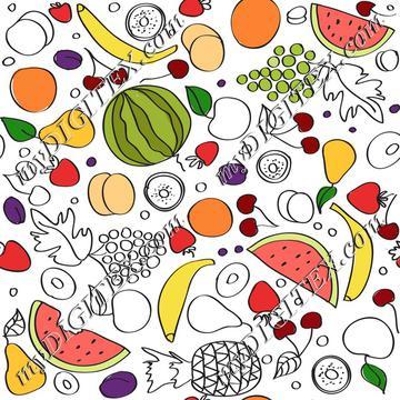 Doodle fruits