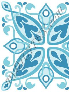 Vale Tile Blue_RAYMOND WARE