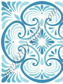 Deco Tile Blue_RAYMOND WARE