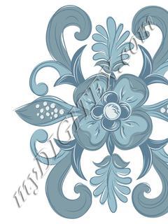 Denim Flower Placement_RAYMOND WARE