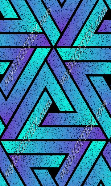 Grunge Triangle Geometric - Cyan Blue